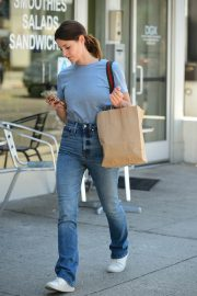 Ashley Greene in Light Blue T-Shirt and Blue Denim Out in Studio City 2019/08/08 4
