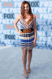 Aubrey Dollar in Multicolor Short Dress during Fox Network's Summer TCA 2019 All-Star Party in Beverly Hills 2019/08/07 1