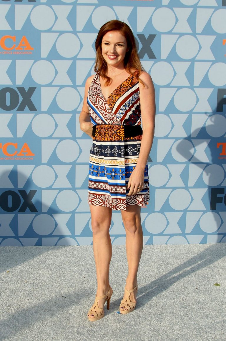 Aubrey Dollar in Multicolor Short Dress during Fox Network's Summer TCA 2019 All-Star Party in Beverly Hills 2019/08/07 3