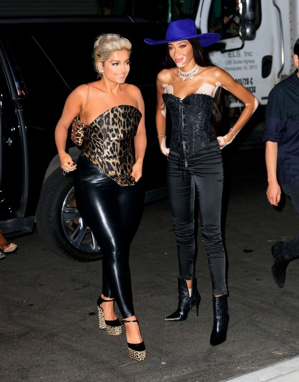 Bebe Rexha and Winnie Harlow leaves Republic Records 2019 VMA After Party in New York 2019/08/26 4
