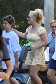 Britney Spears with her Boyfriend Sam Asghari and Kids Out in Disneyland 2019/08/04 14