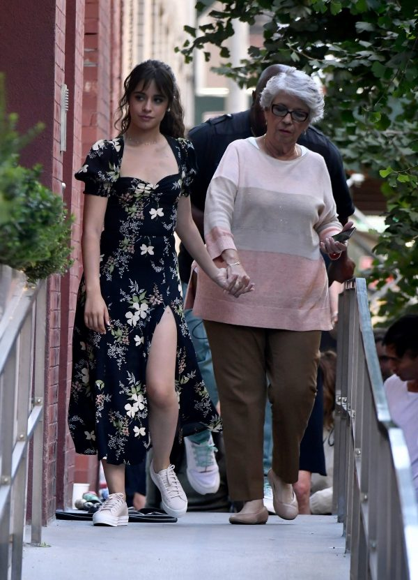 Camila Cabello in Stylish Floral Dress During a Photoshoot in New York 2019/08/30 3