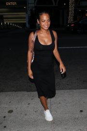 Christina Milian in Black Bodycon at Madeo Restaurant in Beverly Hills 2019/08/08 1