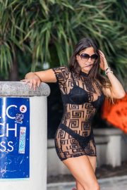 Claudia Romani in Black Bikini Out in Miami, Florida 2019/08/28 6