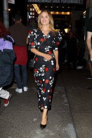 Dianna Agron in Floral Dress Night Out at Broadway Theatre in New York 2019/08/08 1
