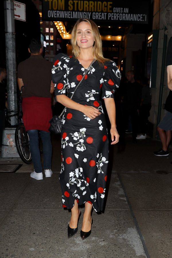 Dianna Agron in Floral Dress Night Out at Broadway Theatre in New York 2019/08/08 3