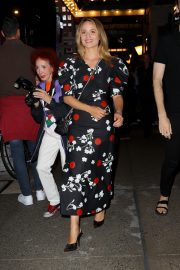 Dianna Agron in Floral Dress Night Out at Broadway Theatre in New York 2019/08/08 4