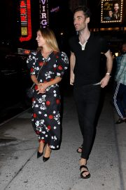 Dianna Agron in Floral Dress Night Out at Broadway Theatre in New York 2019/08/08 5