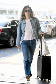 Emmy Rossum seen in Curly Hair at LAX Airport in Los Angeles 2019/08/07 5