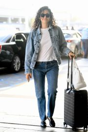 Emmy Rossum seen in Curly Hair at LAX Airport in Los Angeles 2019/08/07 6