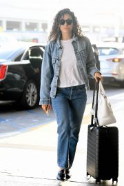 Emmy Rossum seen in Curly Hair at LAX Airport in Los Angeles 2019/08/07 8