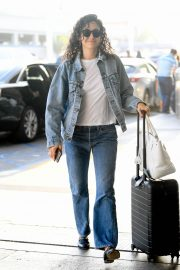 Emmy Rossum seen in Curly Hair at LAX Airport in Los Angeles 2019/08/07 11