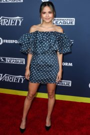 Erin Lim in Blue Dotted Off-Shoulder Dress Variety's Power of Young Hollywood in Los Angeles 2019/08/06 2