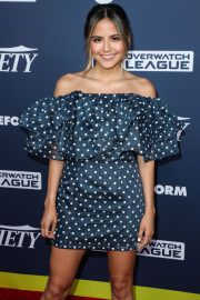Erin Lim in Blue Dotted Off-Shoulder Dress Variety's Power of Young Hollywood in Los Angeles 2019/08/06 3