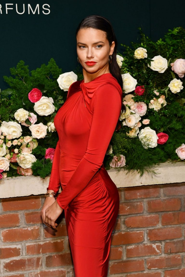 Adriana Lima in Red Dress at Lily Aldridge Parfums Launch Party at Bowery Hotel 2019/09/08 1