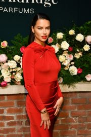 Adriana Lima in Red Dress at Lily Aldridge Parfums Launch Party at Bowery Hotel 2019/09/08 2