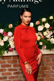 Adriana Lima in Red Dress at Lily Aldridge Parfums Launch Party at Bowery Hotel 2019/09/08 3