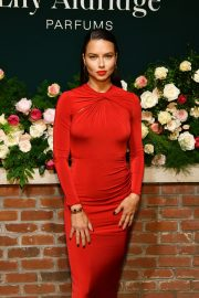 Adriana Lima in Red Dress at Lily Aldridge Parfums Launch Party at Bowery Hotel 2019/09/08 6