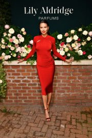 Adriana Lima in Red Dress at Lily Aldridge Parfums Launch Party at Bowery Hotel 2019/09/08 7