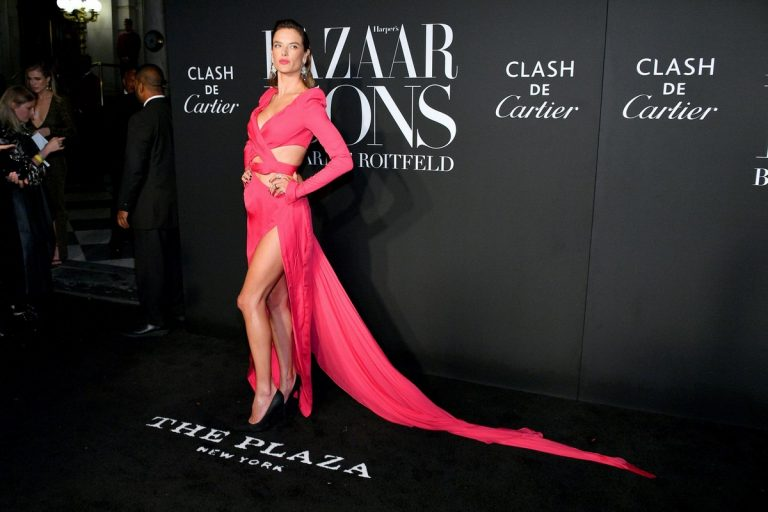 Alessandra Ambrosio seen in Pink Outfit at 2019 Harper's Bazaar ICONS in New York City 2019/09/06 3
