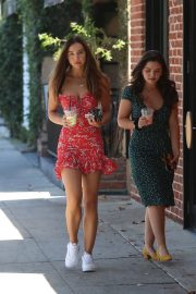Alexis Ren with a friend at Alfred's Coffee on Melrose Place in West Hollywood 2019/09/03 10
