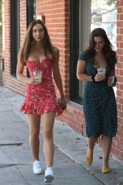 Alexis Ren with a friend at Alfred's Coffee on Melrose Place in West Hollywood 2019/09/03 13