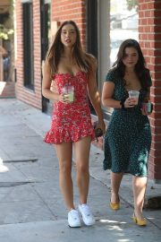 Alexis Ren with a friend at Alfred's Coffee on Melrose Place in West Hollywood 2019/09/03 14