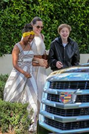 Angelina Jolie with Her Kids Enjoys at Fig and Olive in Hollywood 2019/09/02 5