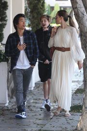 Angelina Jolie with Her Kids Enjoys at Fig and Olive in Hollywood 2019/09/02 9