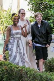 Angelina Jolie with Her Kids Enjoys at Fig and Olive in Hollywood 2019/09/02 34