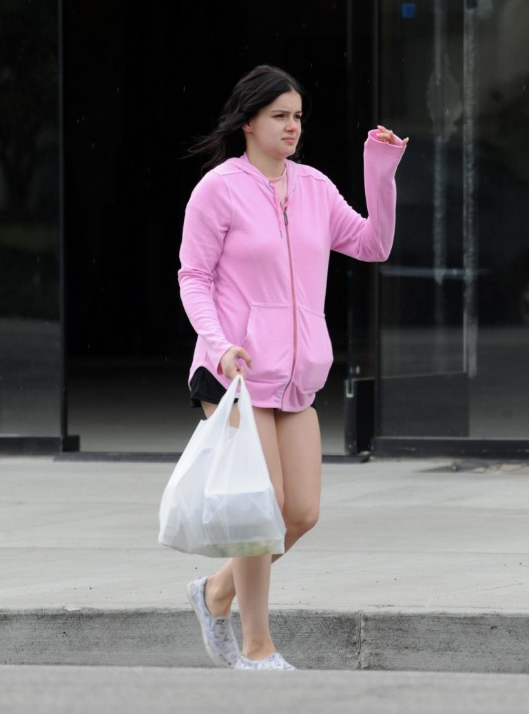 Ariel Winter in Pink Hoodie and Black Shorts out in Studio City 2019/09/26 2