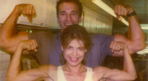 Arnold Schwarzenegger shared pictures with Linda Hamilton, both stars were seen vivacious 1