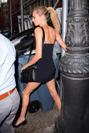 Cara Delevingne in Black Dress Leaves The Wing in New York 2019/09/03 14