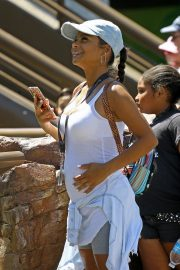 Christina Milian enjoys Cools Off In The Water at Universal Studios 2019/08/16 10
