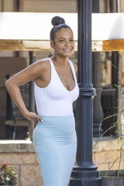 Christina Milian flashes her cleavage in tight bodycon in Los Angeles 2019/09/07 10