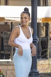 Christina Milian flashes her cleavage in tight bodycon in Los Angeles 2019/09/07 13