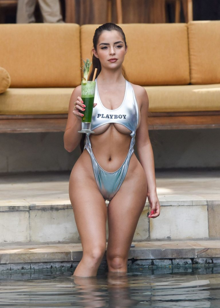 Demi Rose Mawby Hot Photoshoot in Silver Color Bikini in Bali 2019/08/07 6