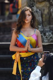 Demi Rose Visits a Small Temple Photoshoot During Her Vacation in Bali 2019/08/27 1