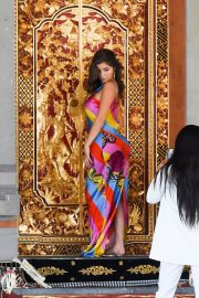 Demi Rose Visits a Small Temple Photoshoot During Her Vacation in Bali 2019/08/27 11