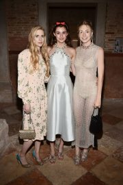 Diana Silvers, Brit Marling and Hunter Schafer attends Miu Miu Women's Tales Dinner in Venice, Italy 2019/09/01 2