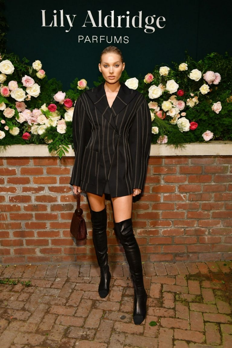 Elsa Hosk in Short Dress with Long Boots at Lily Aldridge Parfums Launch Party at Bowery Hotel 2019/09/08 1