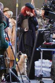 Emma Stone in Red Hair on the set of Cruella in London 2019/09/02 1