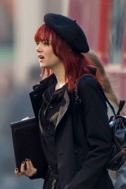 Emma Stone in Red Hair on the set of Cruella in London 2019/09/02 2
