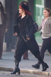 Emma Stone in Red Hair on the set of Cruella in London 2019/09/02 5