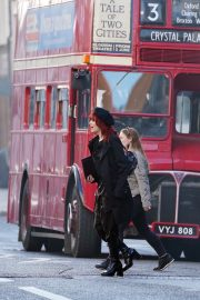Emma Stone in Red Hair on the set of Cruella in London 2019/09/02 6