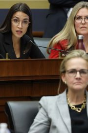 Alexandria Ocasio-Cortez at House Financial Services Committee Hearing in Washington 2019/10/23 11