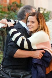 Emma Watson with her Dad Chris After Enjoying Family Lunch in London 2019/10/22 1
