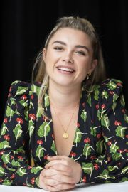 Florence Pugh at Little Women Press Conference in Los Angeles 2019/10/28 11