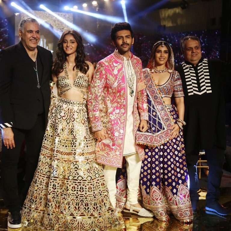 Kartik Aaryan, Bhumi Pednekar, Ananya Panday Rampwalk in Traditional Indian Outfit. The three stars appeared in their upcoming film 'Pati Patni Aur Woh' 2