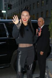Adriana Lima arrives at the PUMA store in New York City 2019/11/01 13